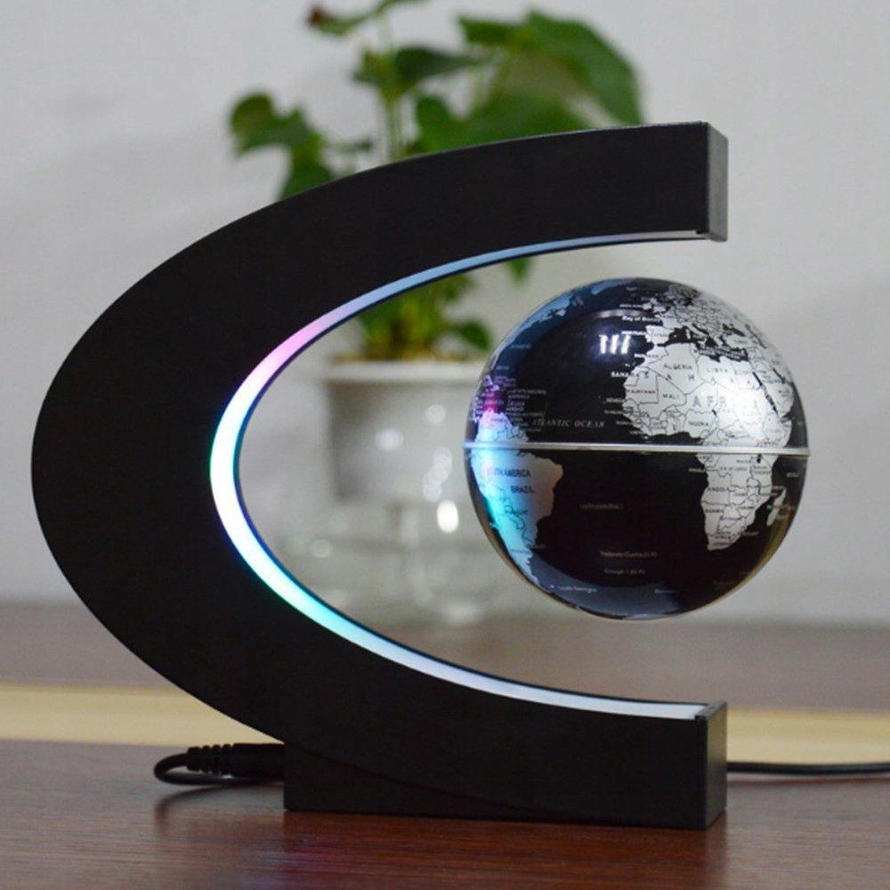 GLOBUS LEWITUJĄCY LAMPA MAPA PODŚWIETLENIE LED