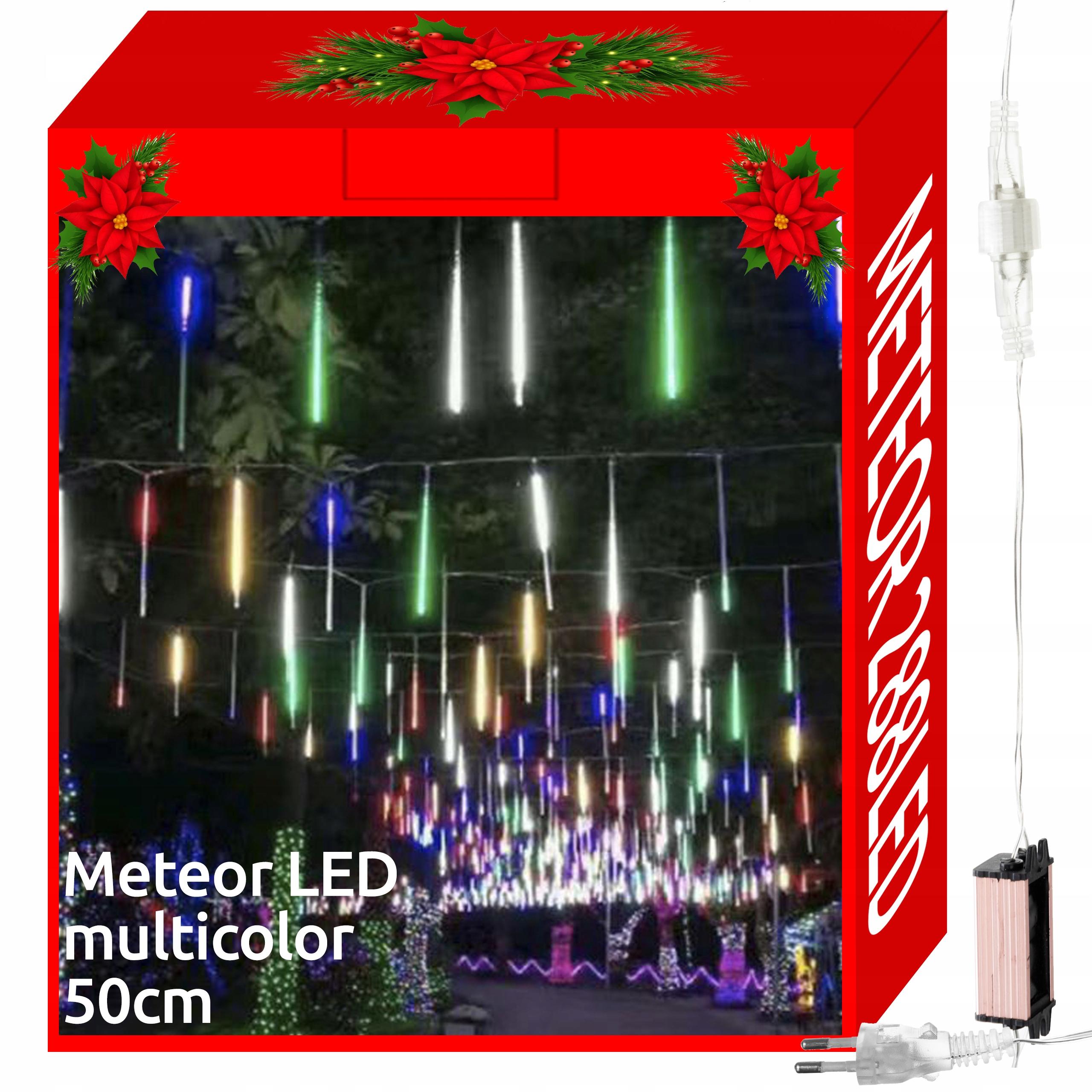 Sople Meteory Lampki Padający Śnieg 288LED 8x 50cm