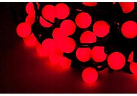 LED svetlá na vianočný stromček, červené (20 m)