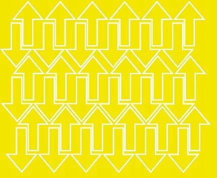 Naklejka strzałki 5x3cm 72szt fv żółty