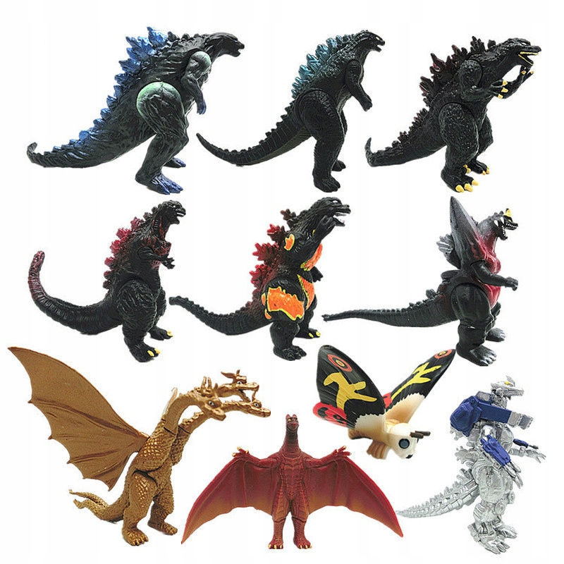 10ks Gojira Godzilla 3-8cm PVC akčná figúrka