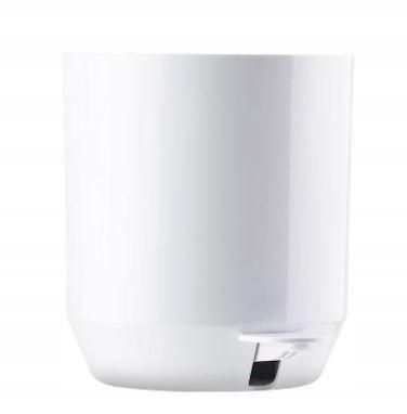 Kúpelňový kôš SUII biela - japonský dizajn, 4L