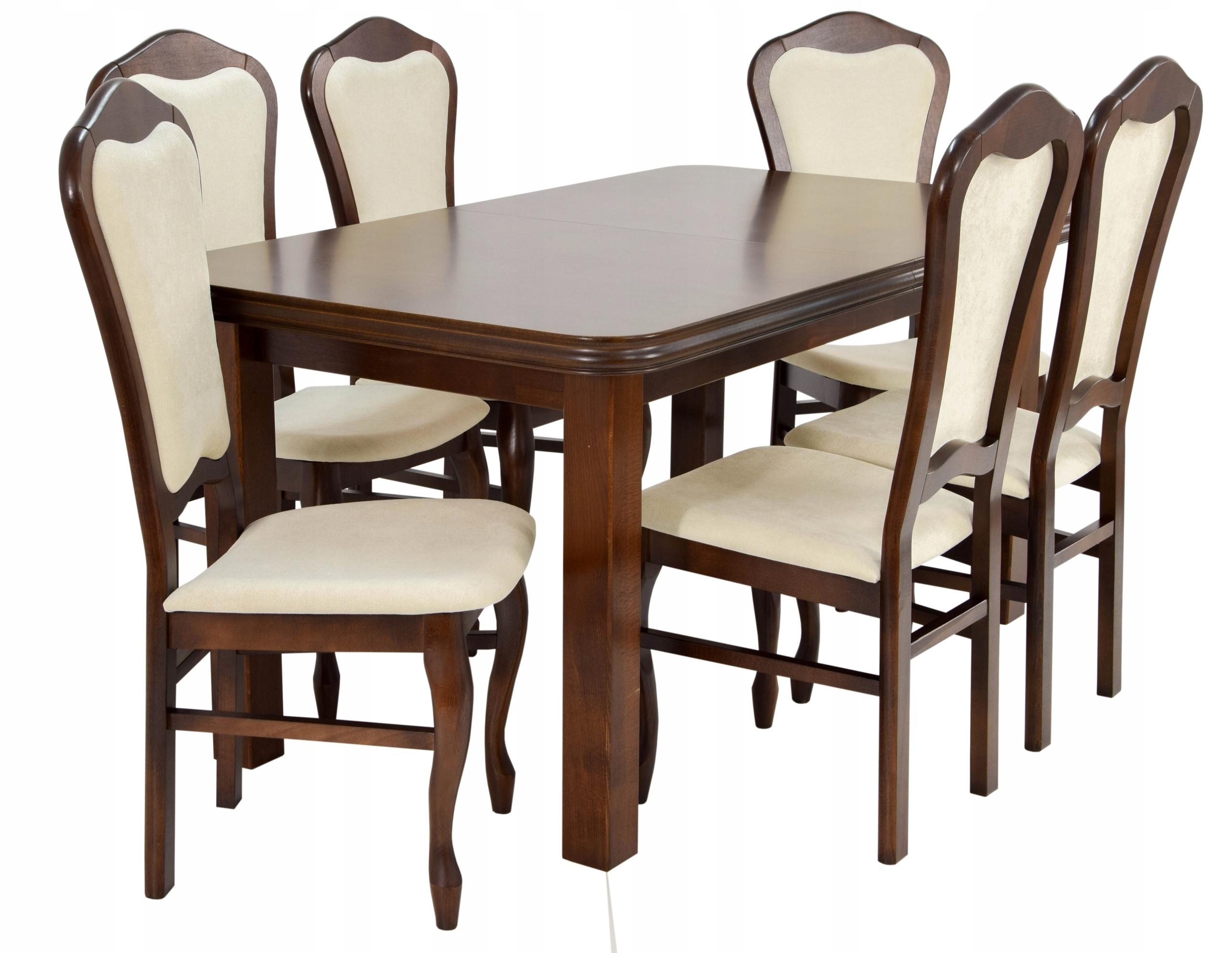 Skladací stôl a 6 stoličiek z masívu + DOPRAVA zadarmo