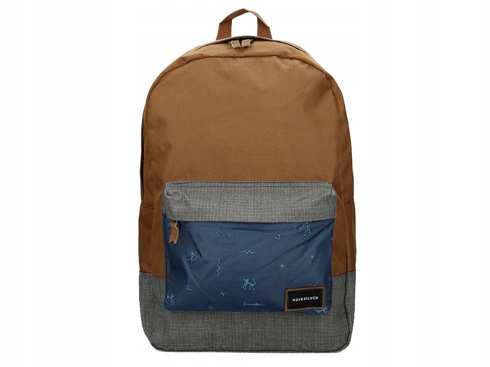 Oryginalny Brązowy Plecak Quiksilver Torba Laptop