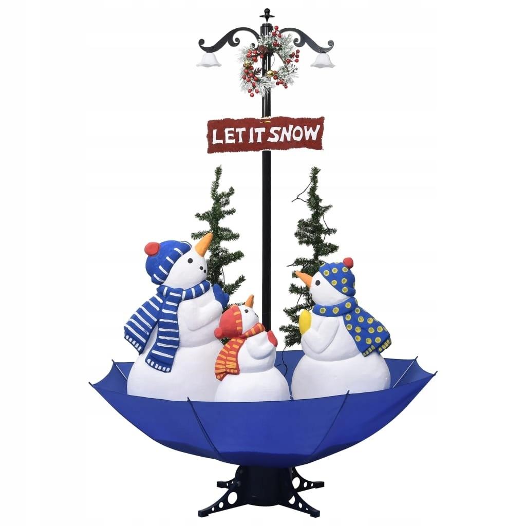m8n Zasnežený vianočný stromček, modrý základ