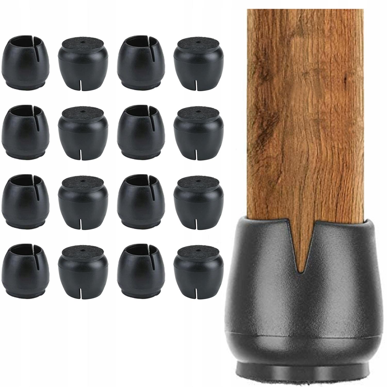 16 шт. Войлочные накладки на ножки стула 17-21 мм