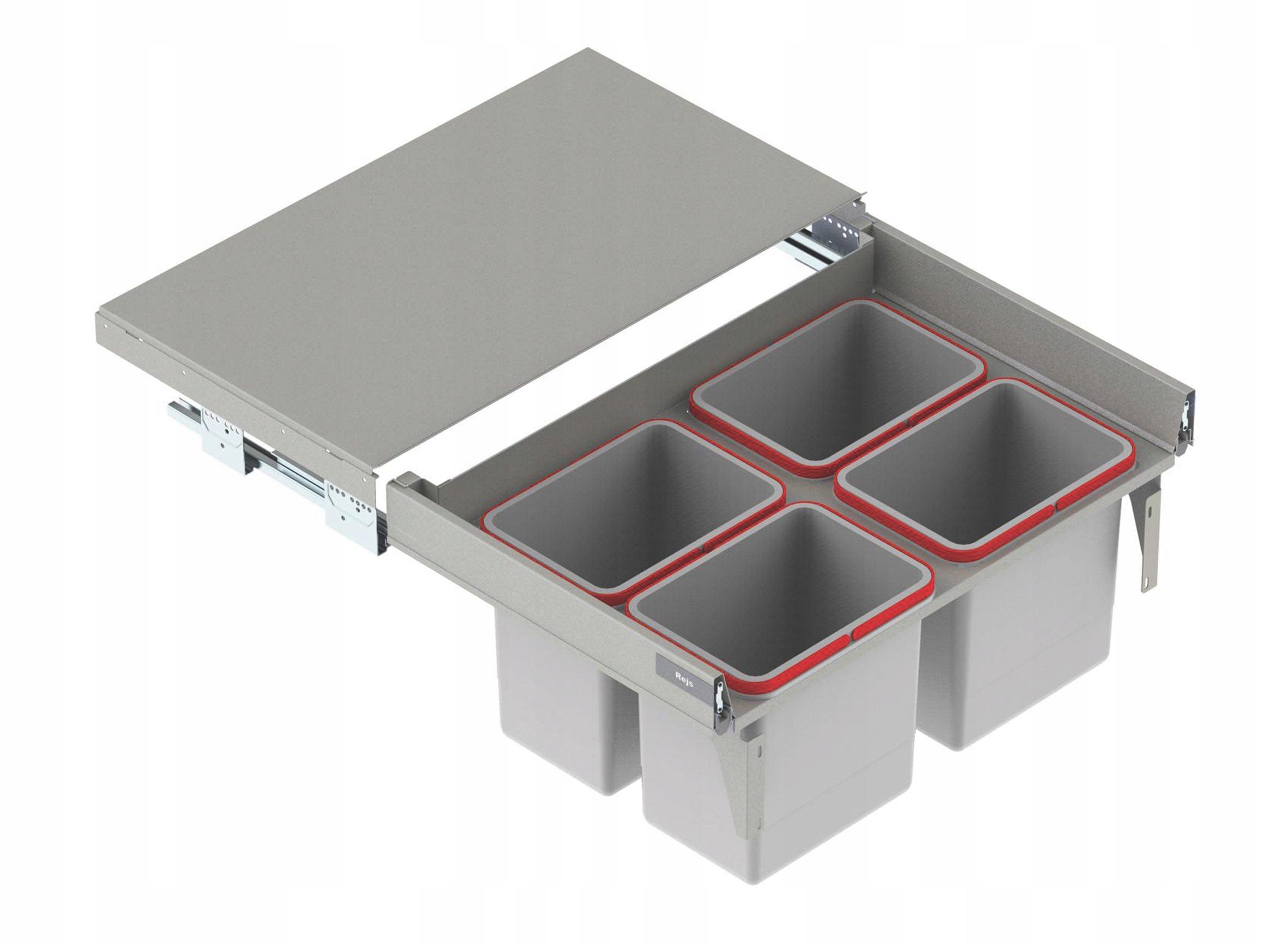 BOX NA ODPADOVANIE ODPADOVÉHO ODPADU 4x15 L PREDNÉ 80 L-500