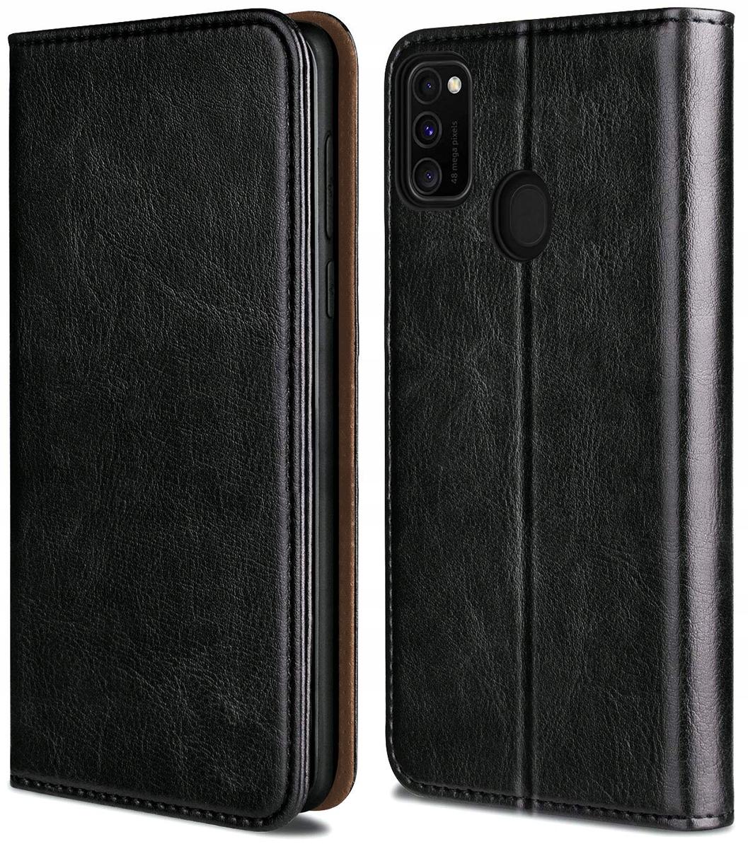 ETUI SKÓRZANE PORTFEL +SZKŁO do Samsung Galaxy M21