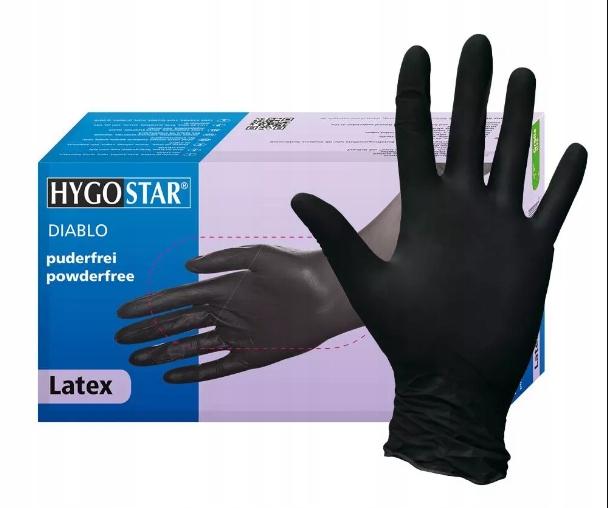 Черные перчатки одноразовые 100 шт. L