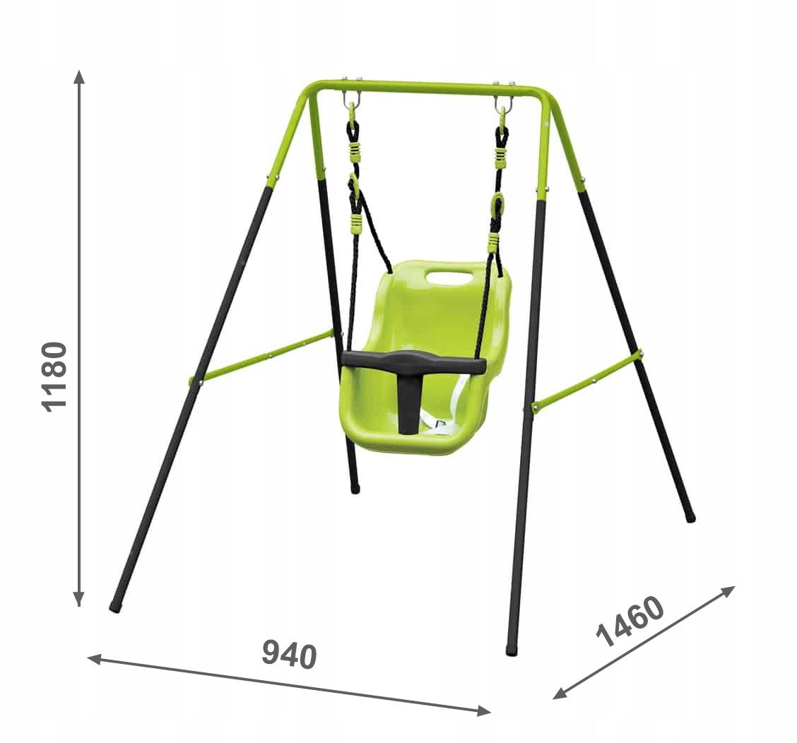 Kovové vedro Swing Megi, svetlozelené vedro typu 4iQ