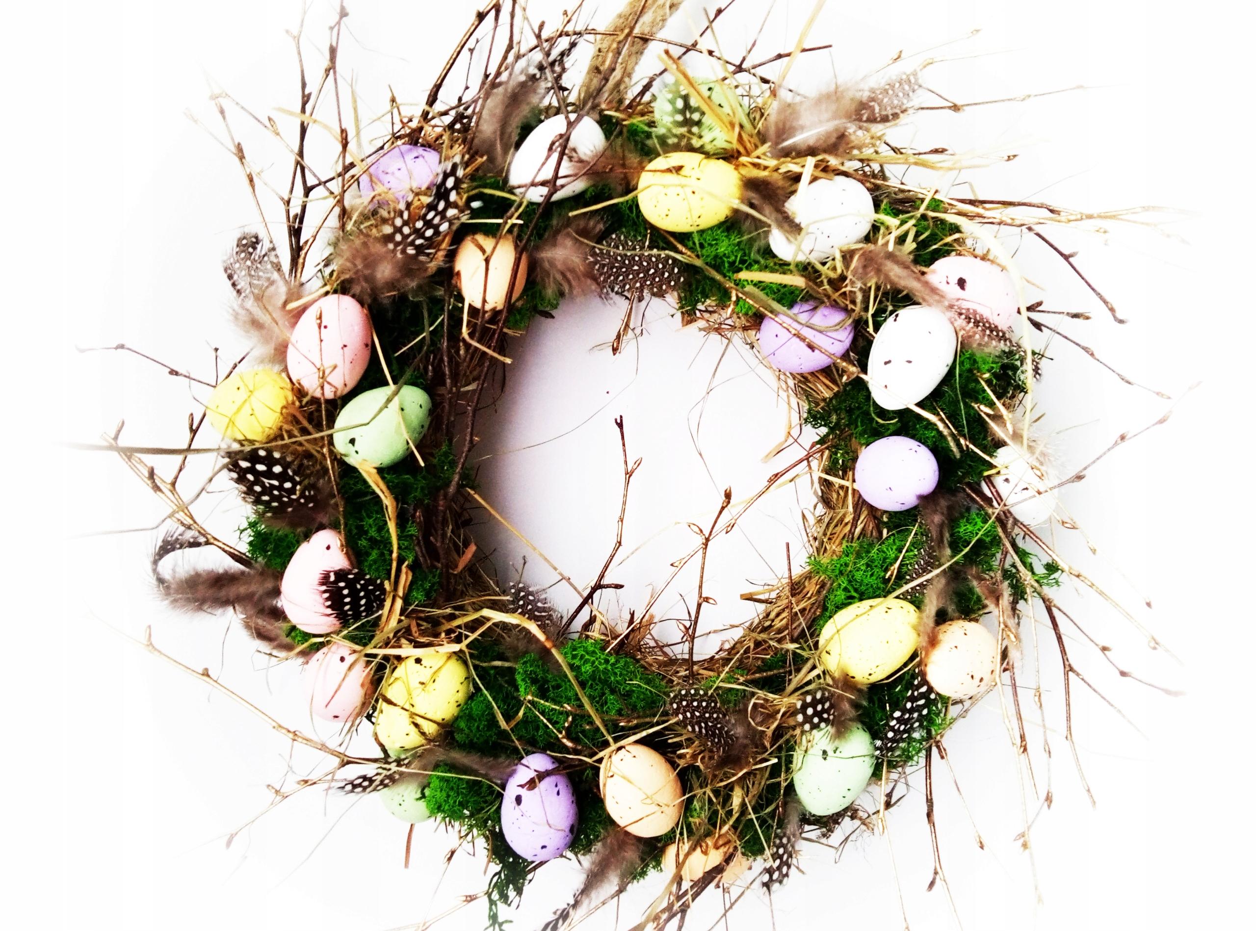 wianek stroik WIELKANOCNY wiosenny dekoracja
