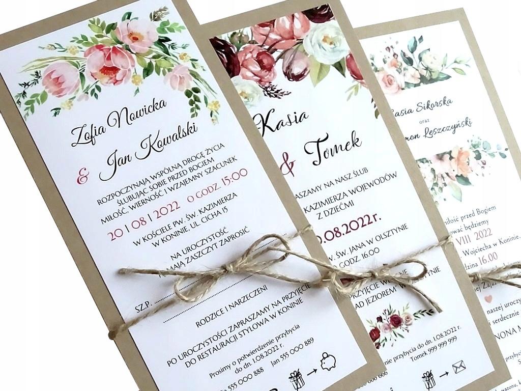Приглашения на свадьбу в деревенском стиле ECO, Boho DL
