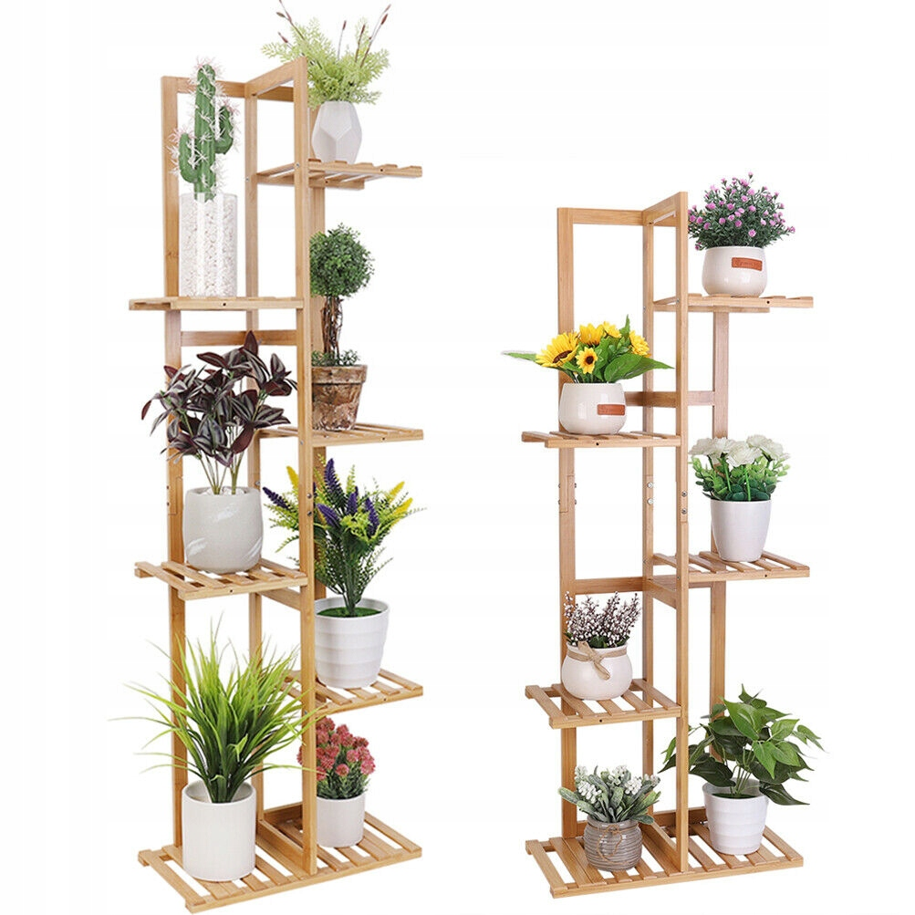 Деревянная клумба-подставка для 7 цветов