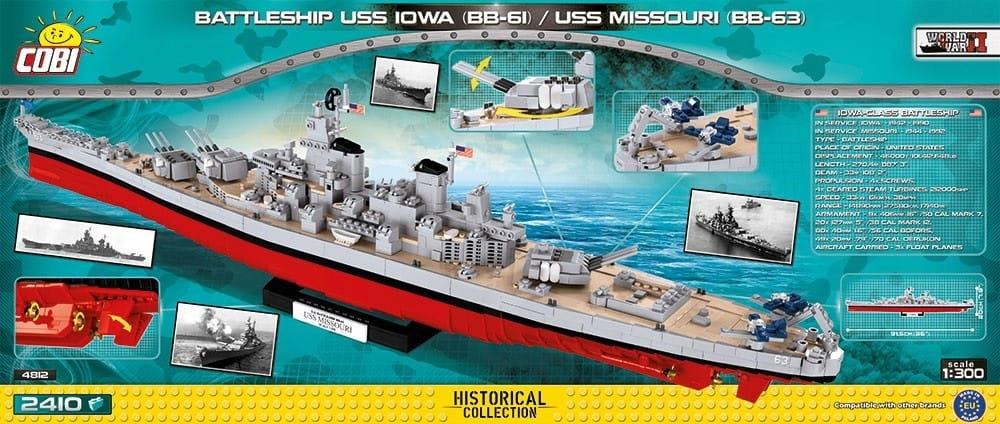 Bitevná loď malej armády COBI Klocki USS Iowa BB-61
