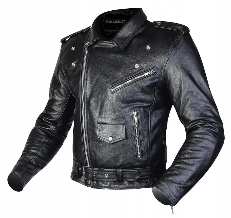 Кожаная куртка OZONE RAMONES Ramoneska для мотора L
