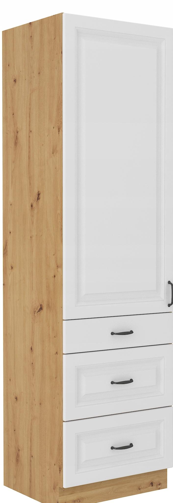 RETRO vysoká skrinka 60 cm remeselník + biela