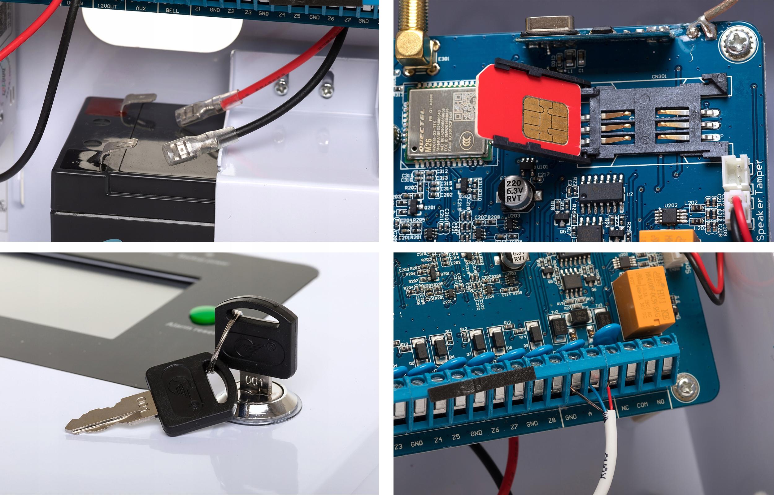 PRZEWODOWY ALARM LCD GSM APP SYRENY WIFI POLSKI Kod produktu SL-119