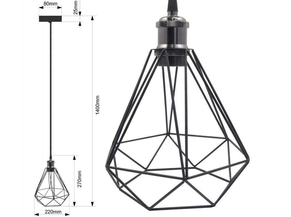 LAMPA SUFITOWA WISZĄCA DIAMA ŻYRADNOL LED LOFT BC1 Kod produktu CB-1000101