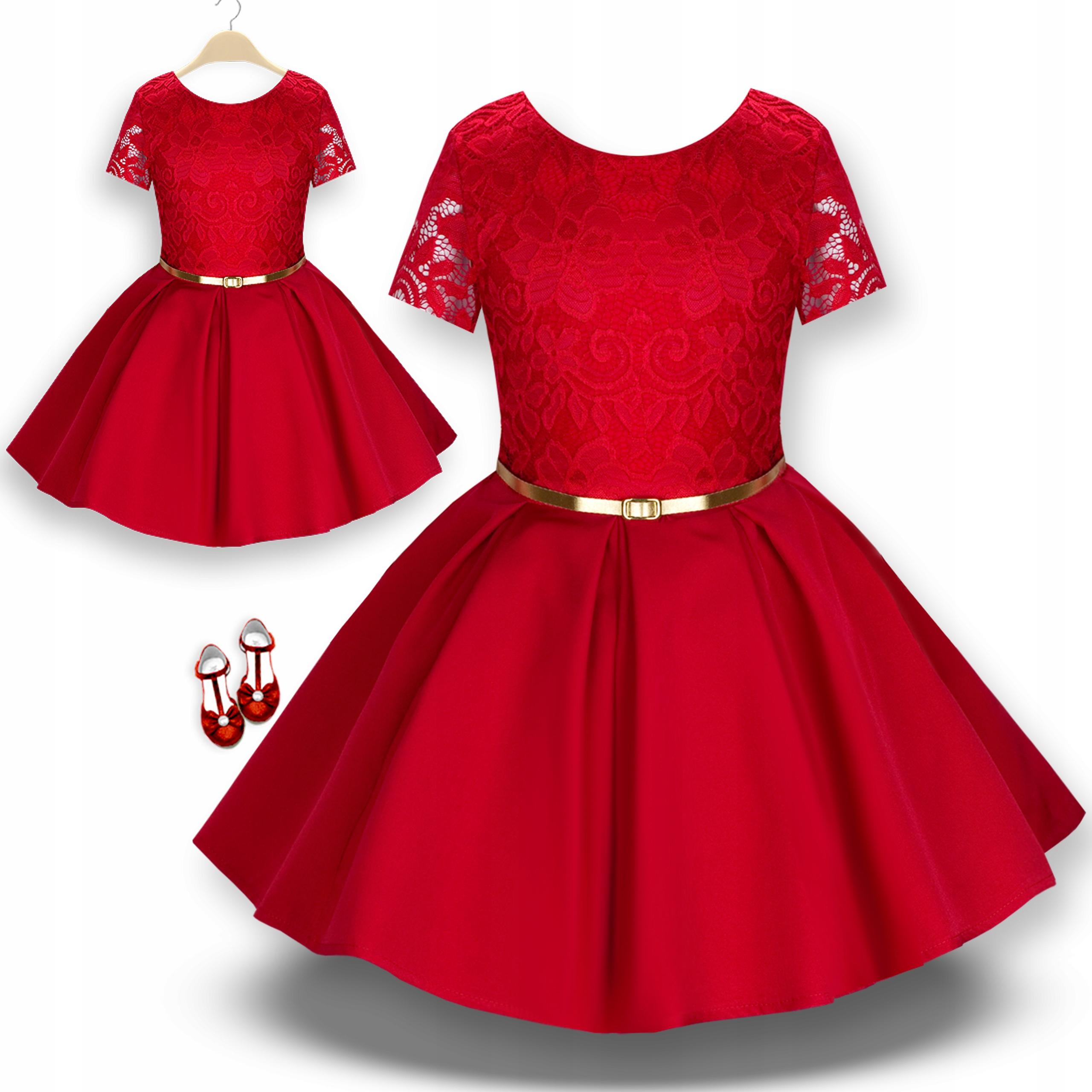 Sukienka WIZYTOWA koronka gipiura ażurowa REDI 128