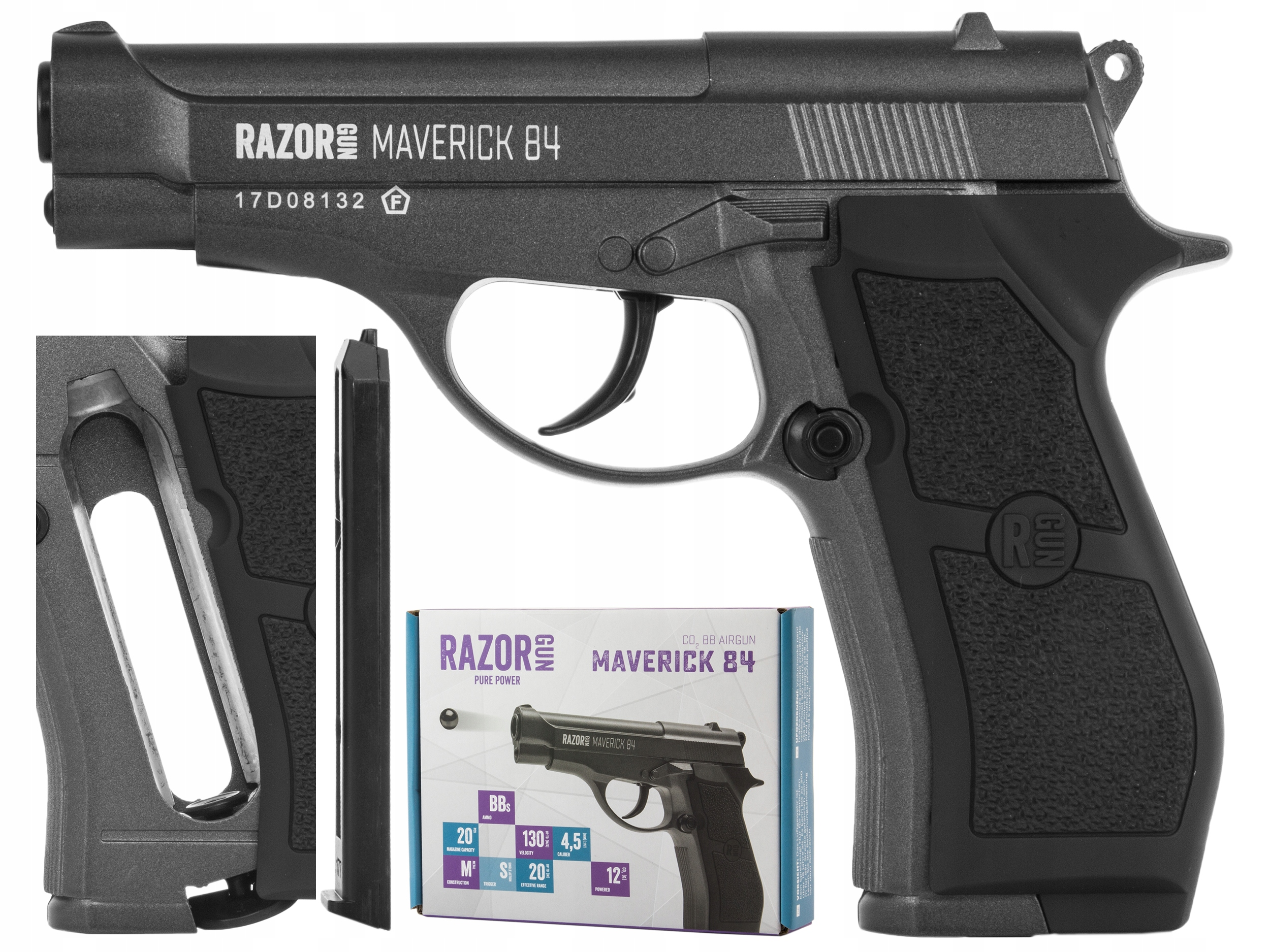 Pistolet wiatrówka RazorGun Maverick 84 4,5 mm BB