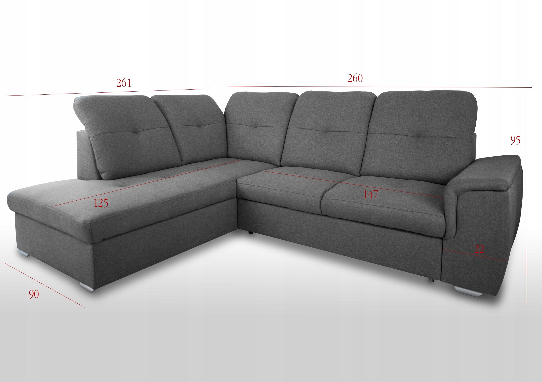 KOMFORTABLE ECKE BLANCO L - FARBEN Möbelhöhe 95 cm