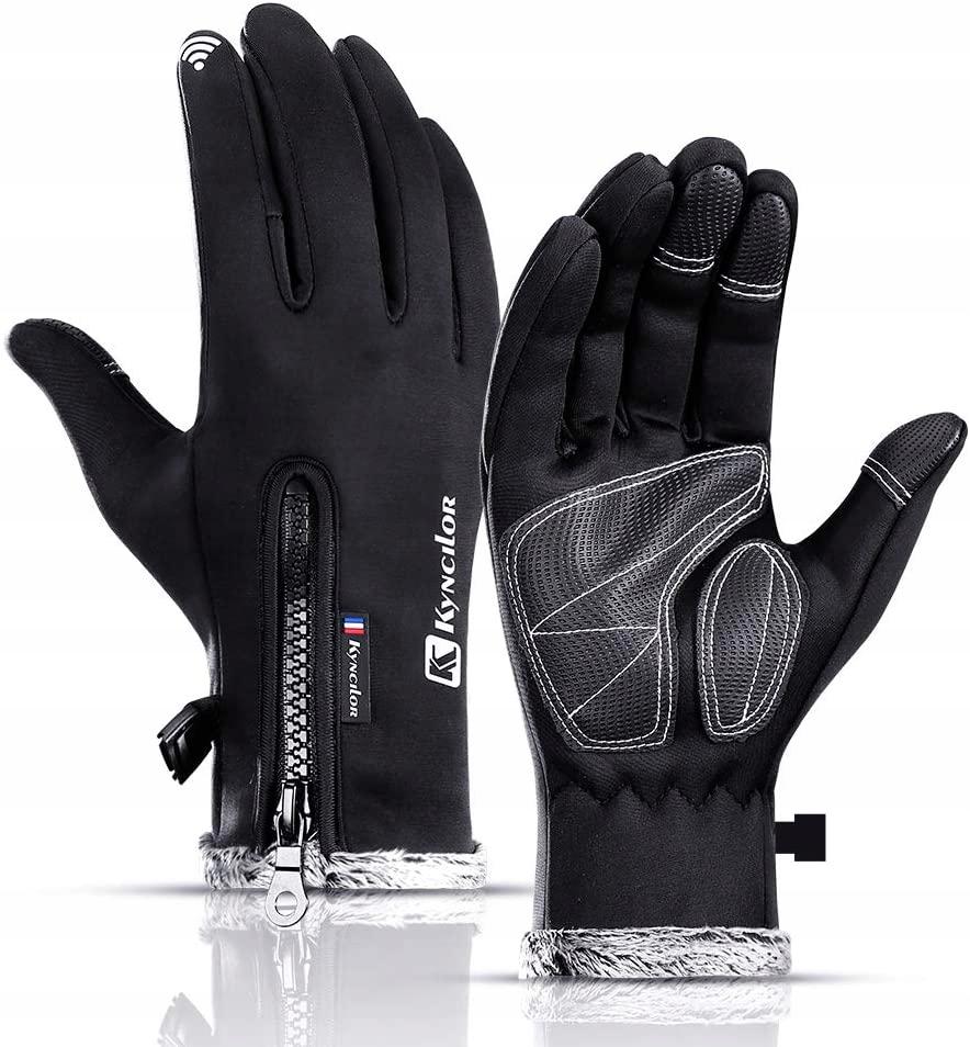 Зимние тактильные водонепроницаемые велосипедные перчатки XL