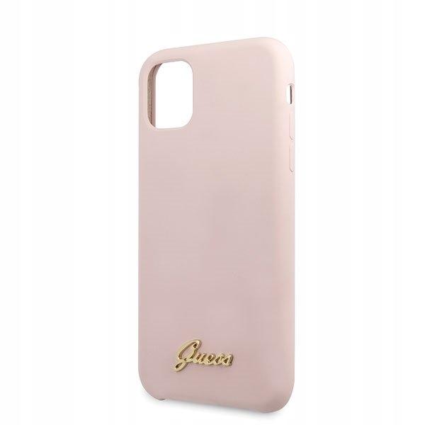 Etui Guess Silicone Case do iPhone 11 jasnoróżowy Kod producenta Etui Guess Silicone Case do iPhone 11 jasnoróżowy