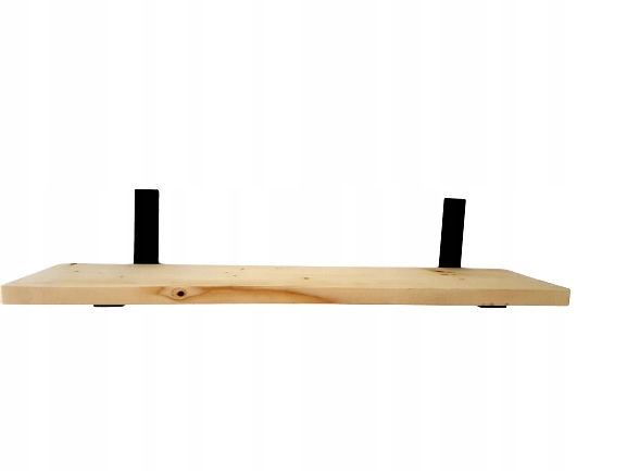 Półka ścienna Drewniana Lite drewno loft 60