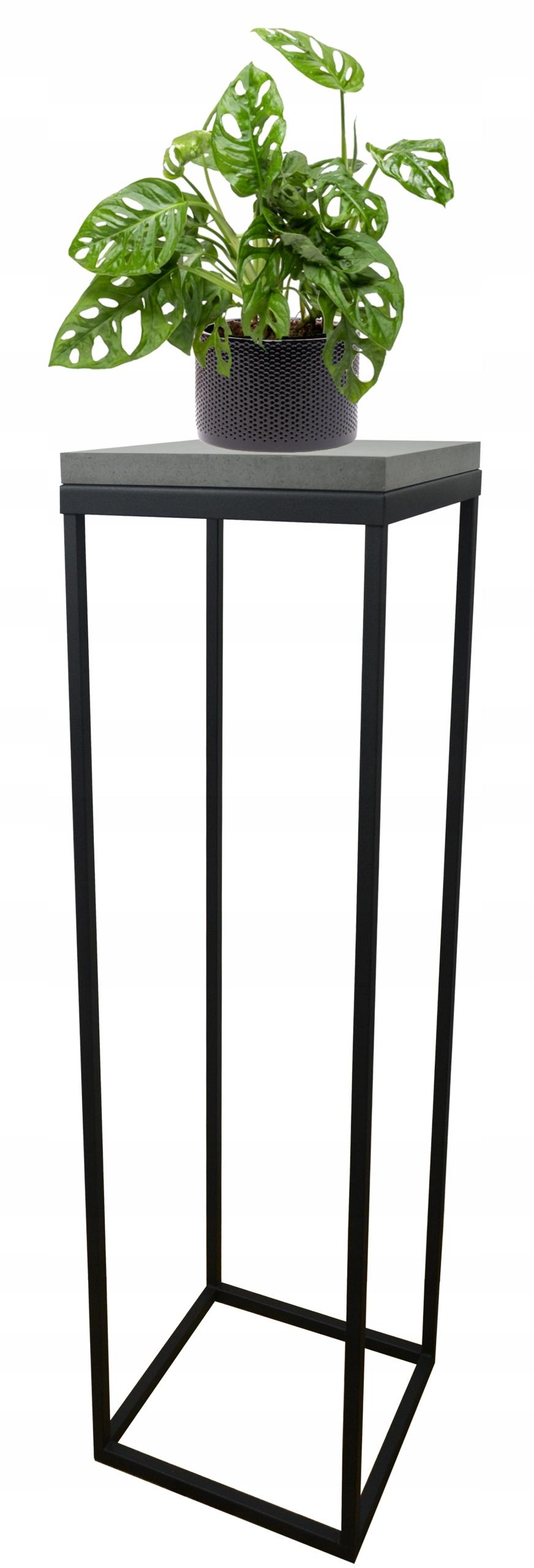 Клумба металлическая loft black столешница Dark Concrete 70см