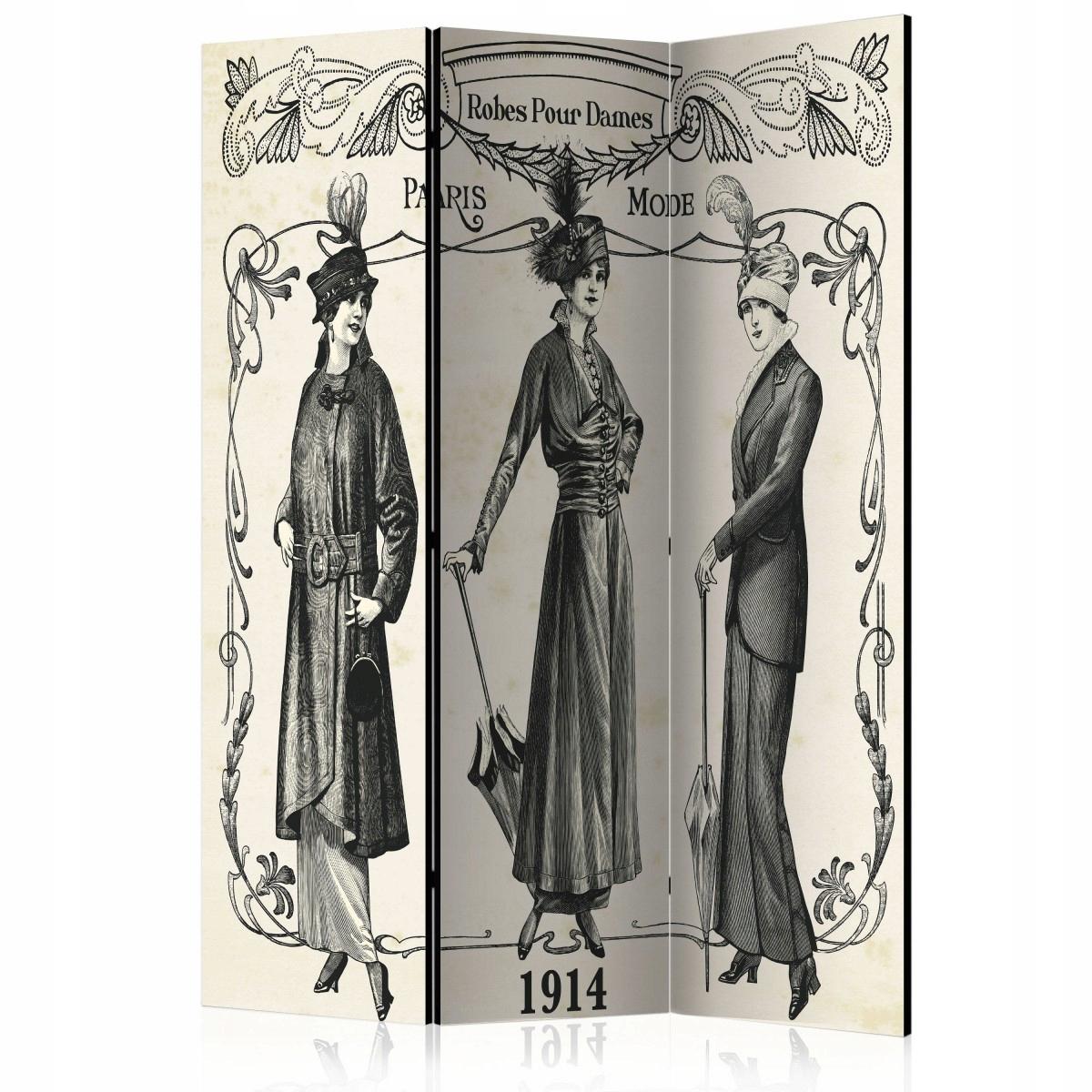 Dekoratívna obrazovka 135x172 dámske figúrky retro