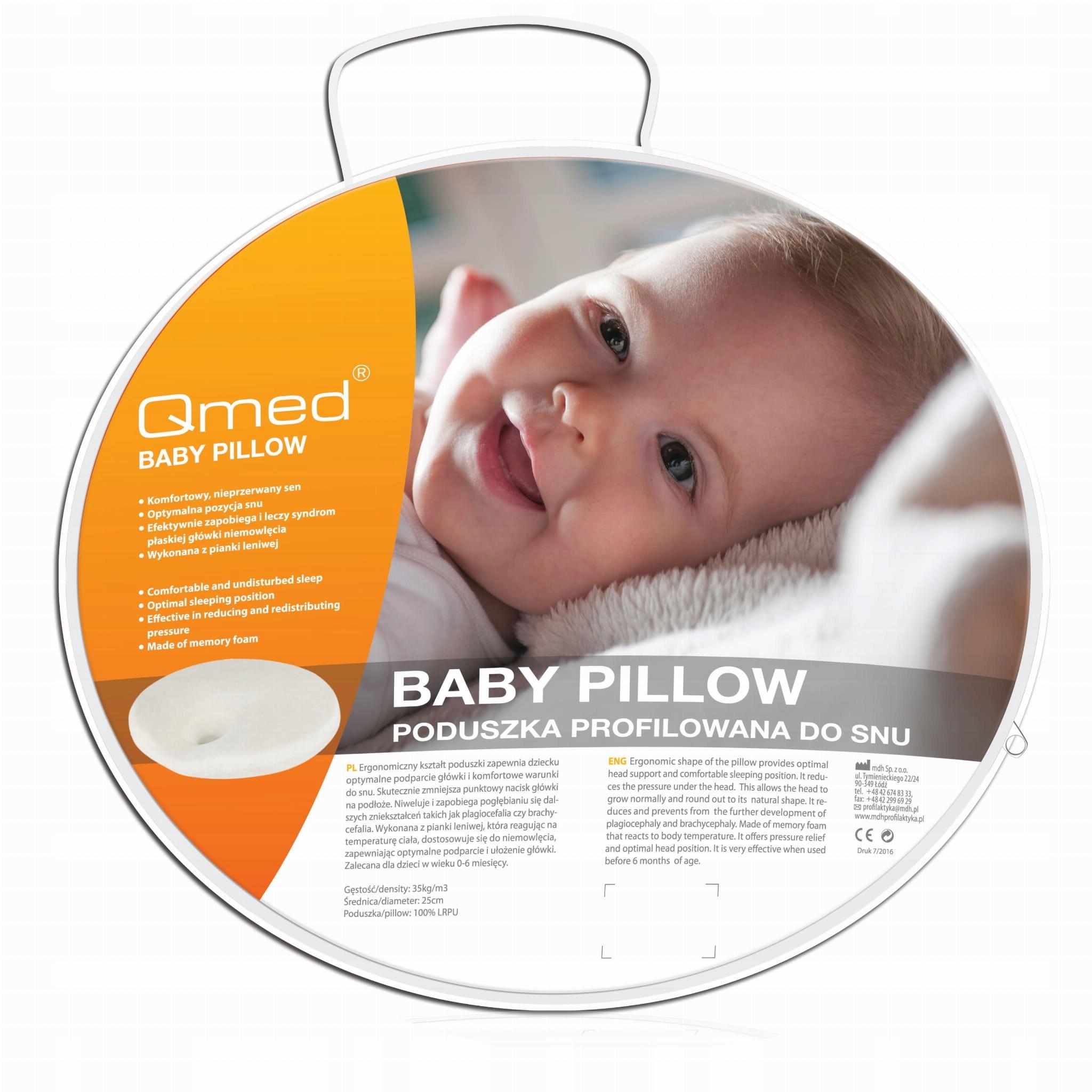 Poduszka dla noworodka Qmed Baby Pillow 9145276914 - Allegro.pl