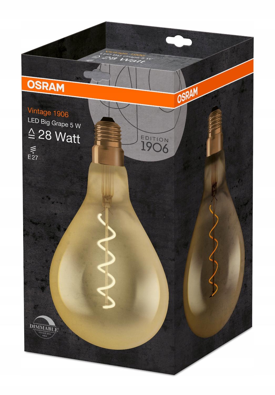 Osram LED lampa 5W E27 VINTAGE 2000 má schopnosť na ovládanie jasu svetla