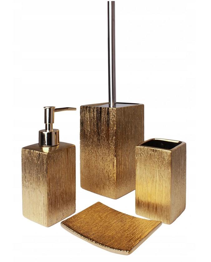 Kúpeľňová súprava Floss 4 prvky zlatá