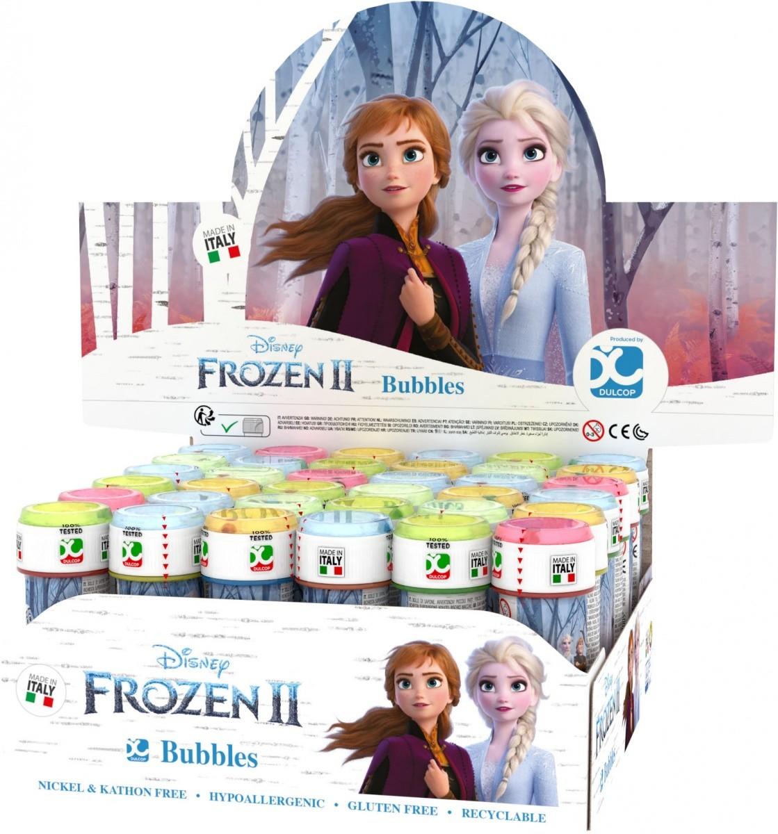 Mydlové bubliny Frozen 2 60ml displej 36 kusov