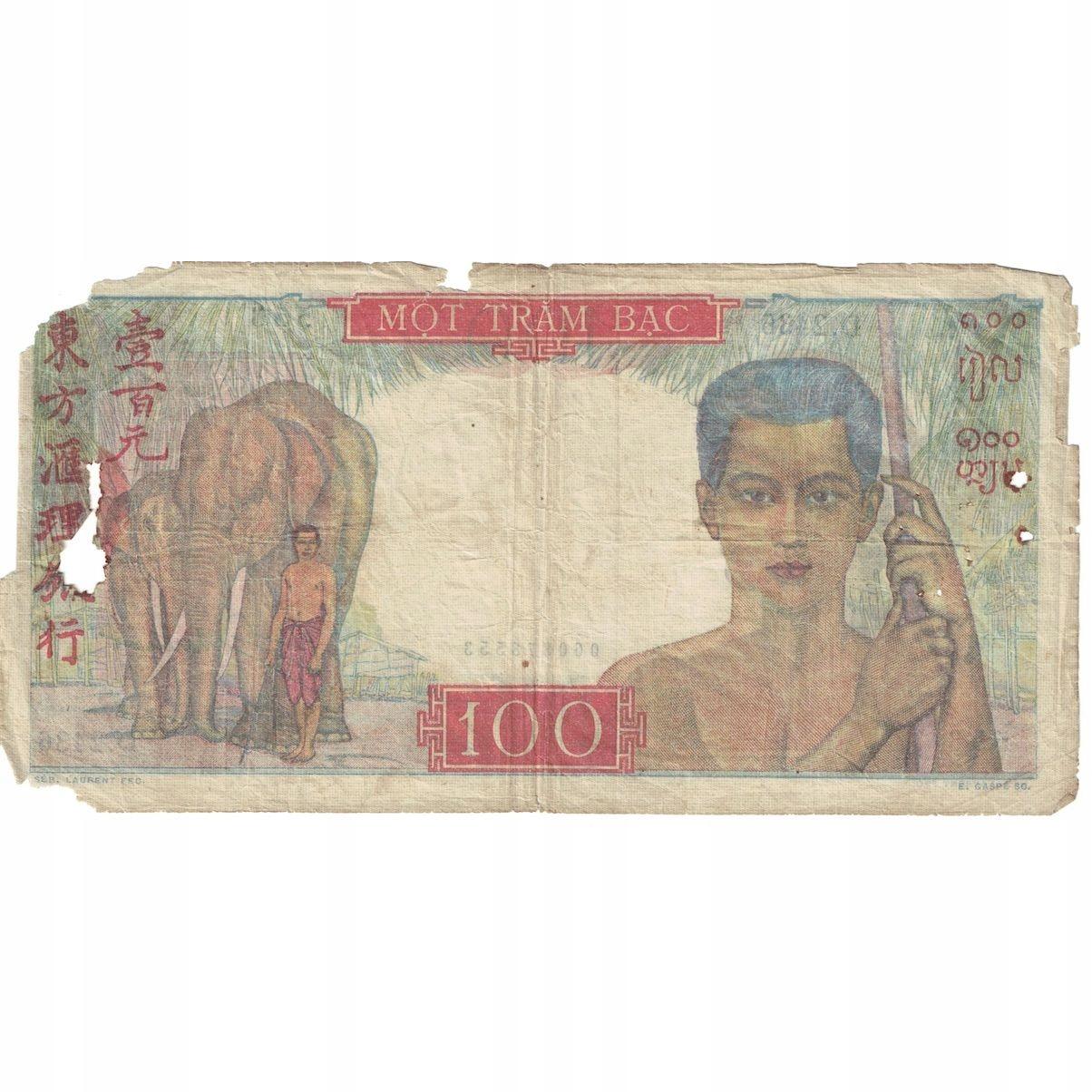 Банкнота, FRENCH INDOCHINES, 100 Пиастров, ND (1