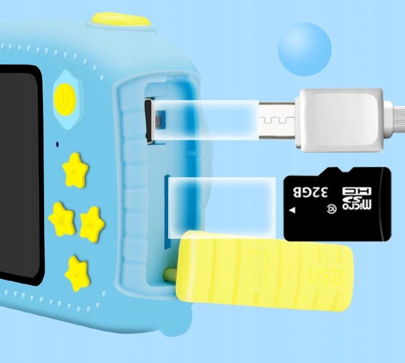 Aparat Cyfrowy Kamera dla Dzieci LCD KRÓLIK GRY Kod producenta QL-268
