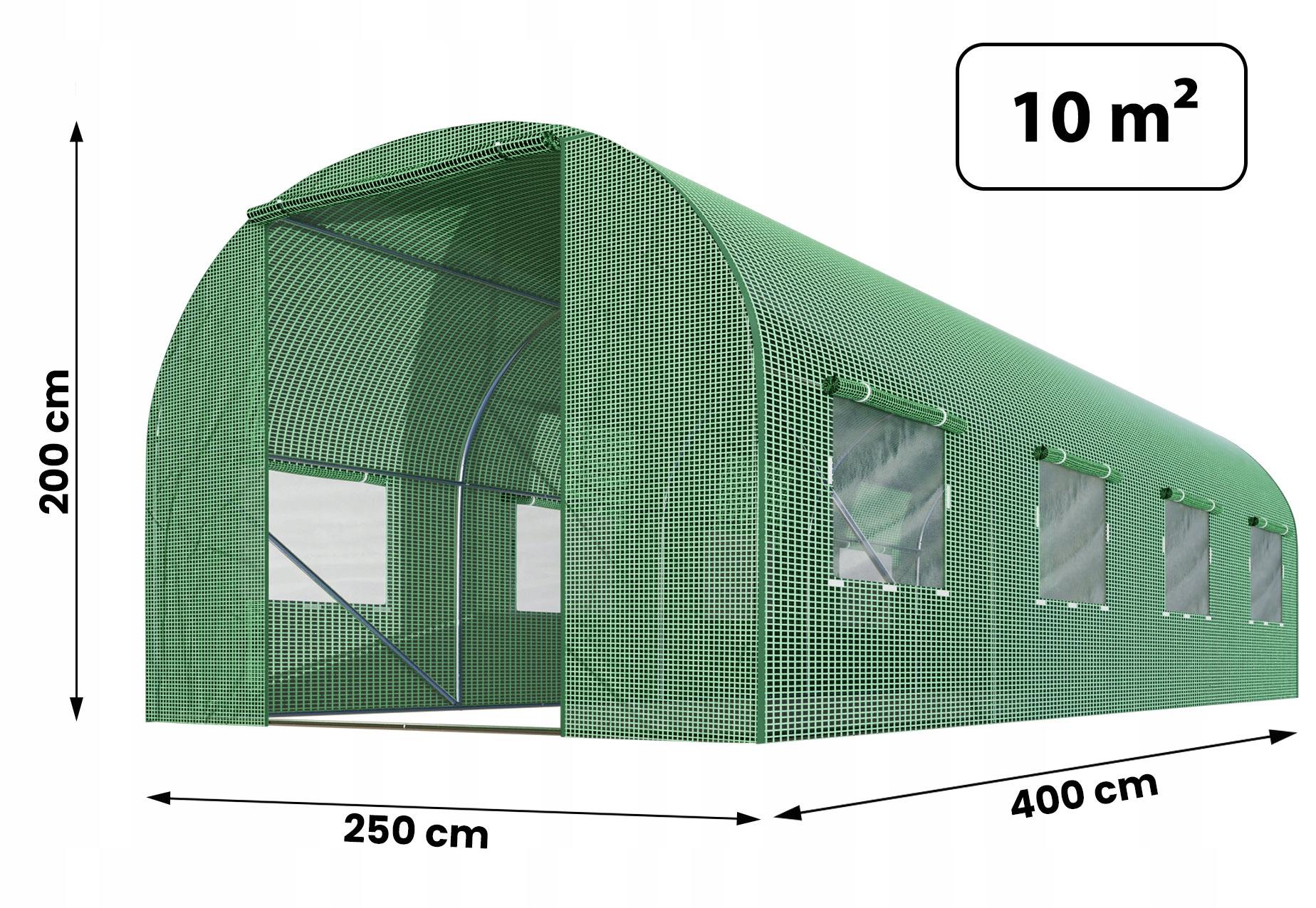 FOLIA NA TUNEL OGRODOWY 2,5x4m ZAMIENNA UV-4 10m2 Waga produktu z opakowaniem jednostkowym 5.5 kg