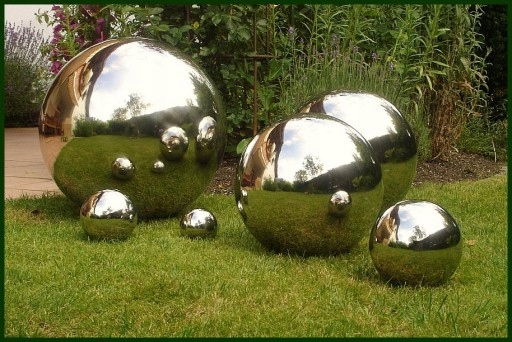 LUXURY BIG GARDEN BALL 40 - ХРОМ