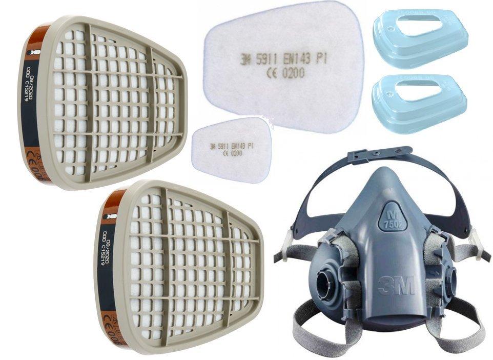 Półmaska maska lakiernicza 3M KOMPLETNA model 7500