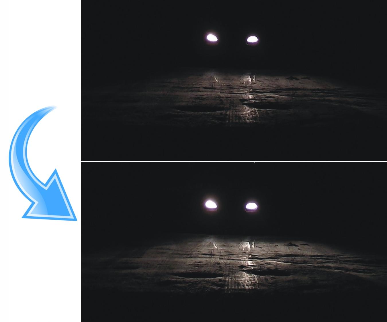 słabe światła mijania