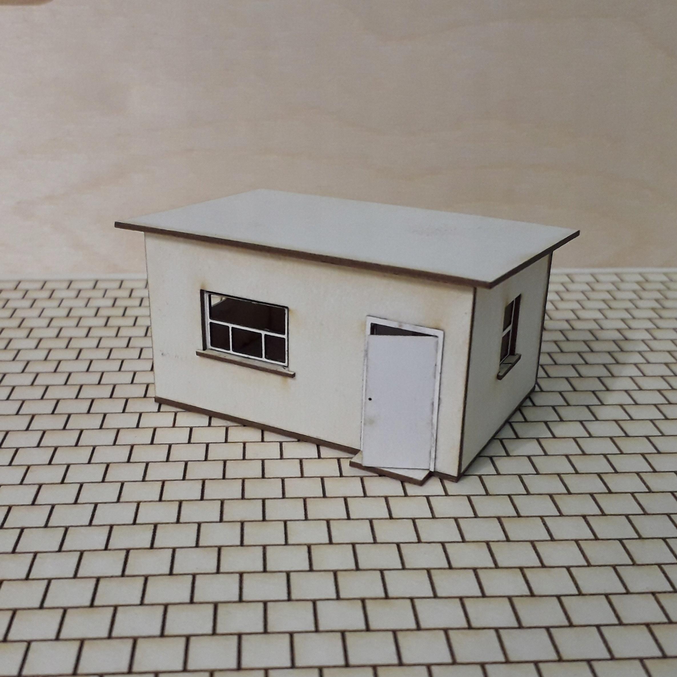 Budynek biurowy skład węgla lub złomowisko H0 1:87