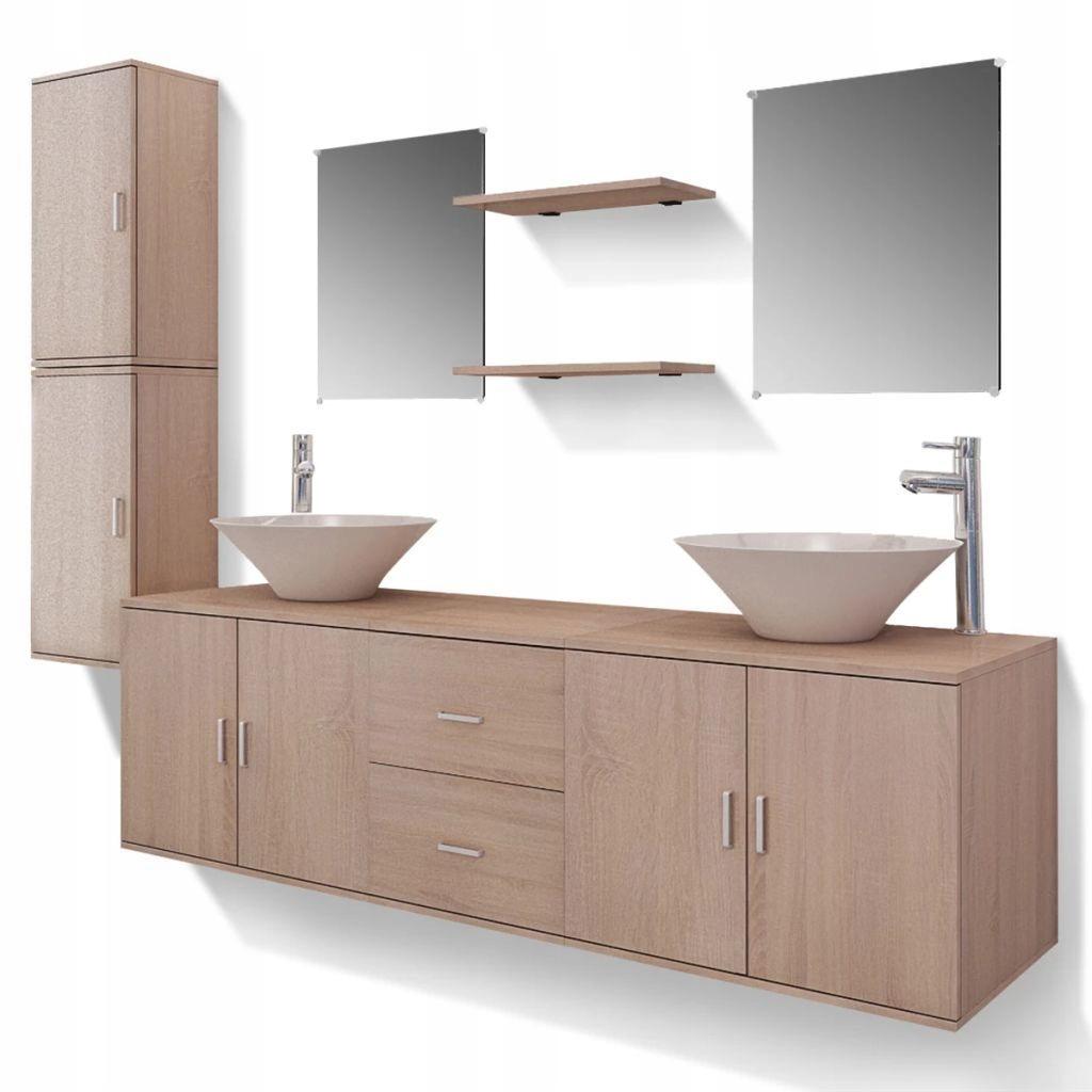 11 je čiastočný súbor nábytku do kúpeľne od zlewami