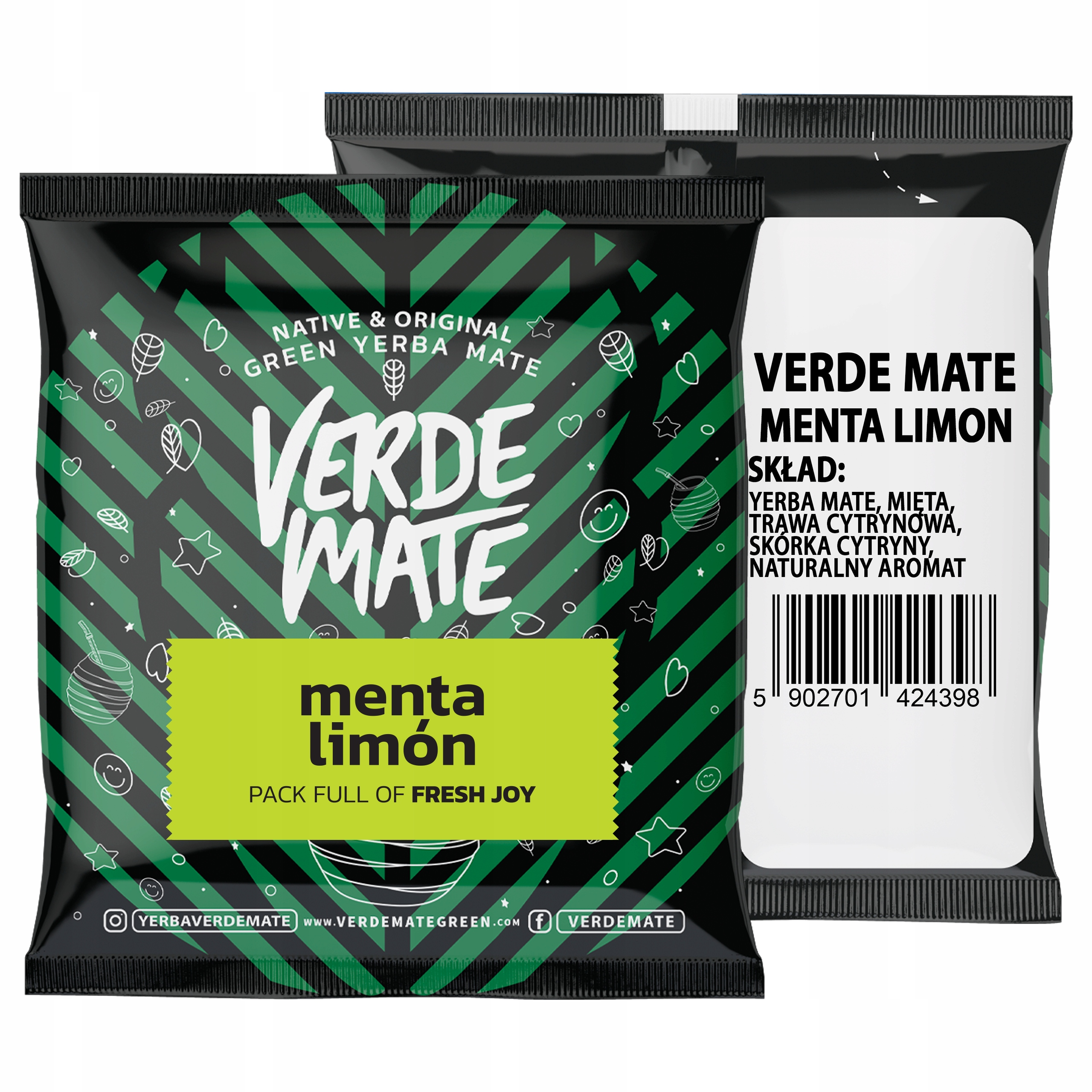 Yerba VERDE MATE Menta Limon 50g próbka