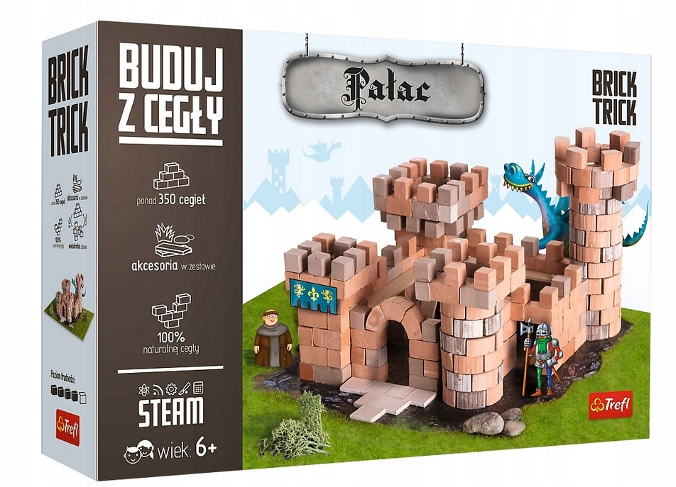 STAVENÉ S TEHLOVÝM PALÁCOM Brick Trick 60881 tehlový hrad