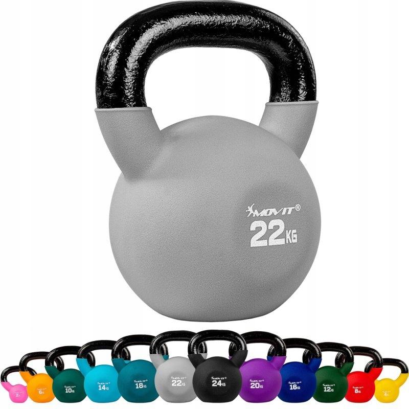 Kettlebell Ketla cvičebná váha 22 kg MOVIT