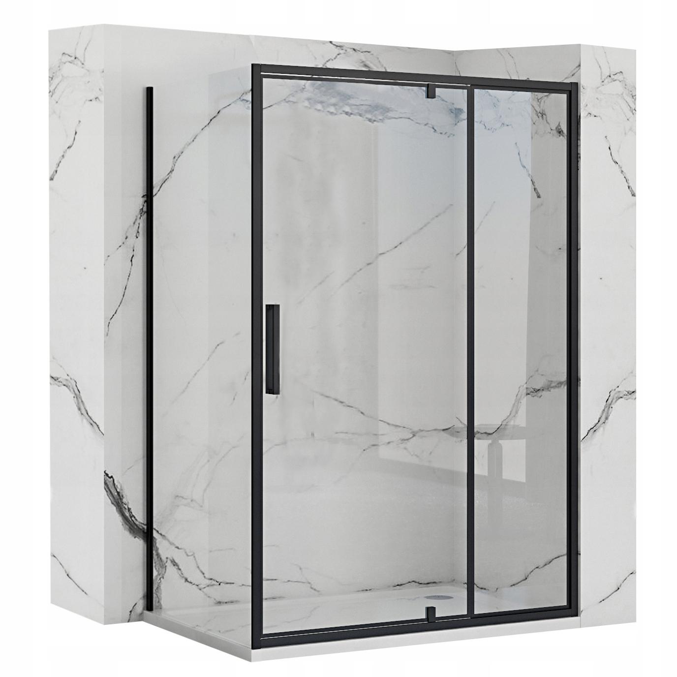 Čierna sprchová kabína Rapid Swing 100x140 cm