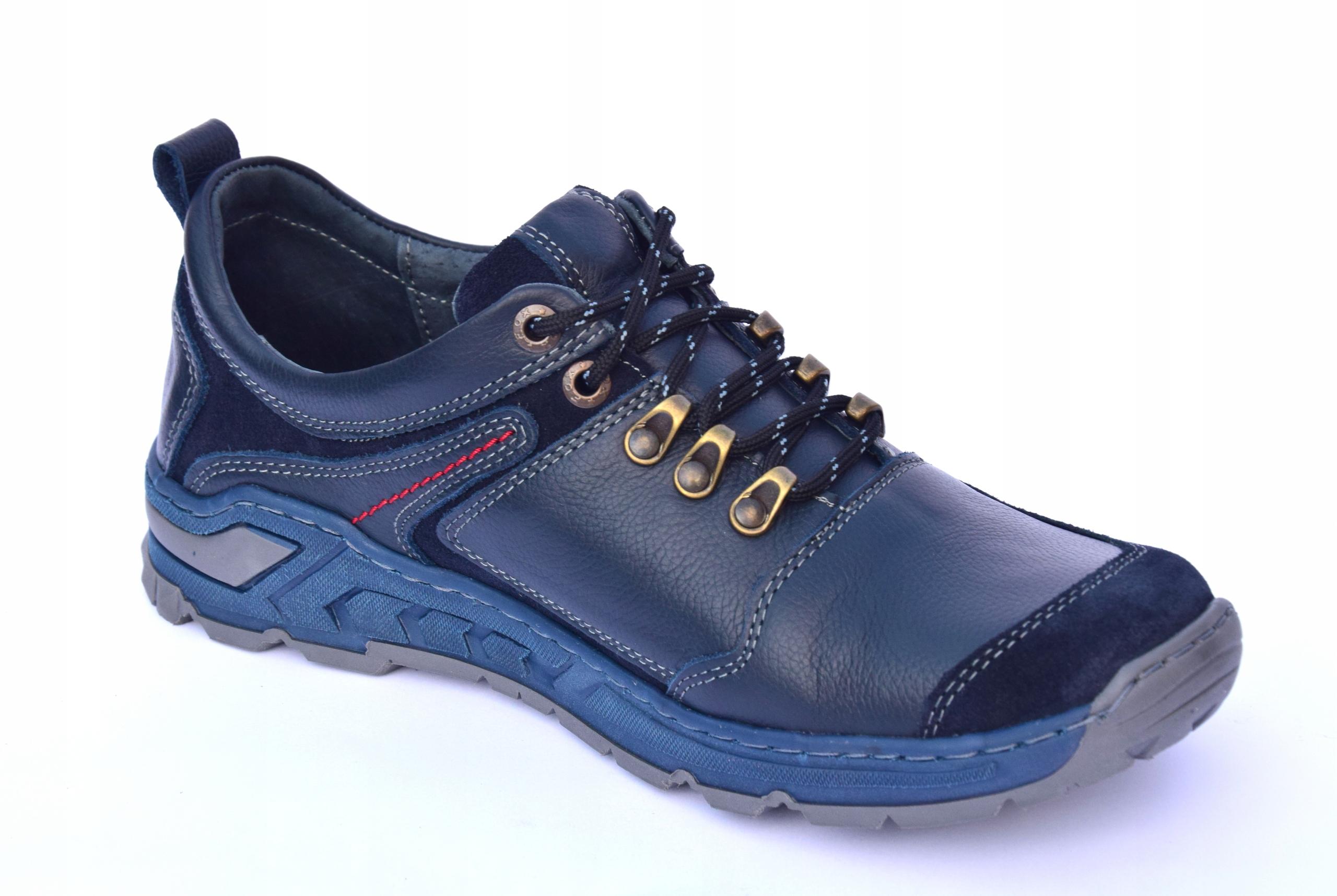 Buty trekkingowe górskie polskie skórzane 0241IG Płeć Produkt męski