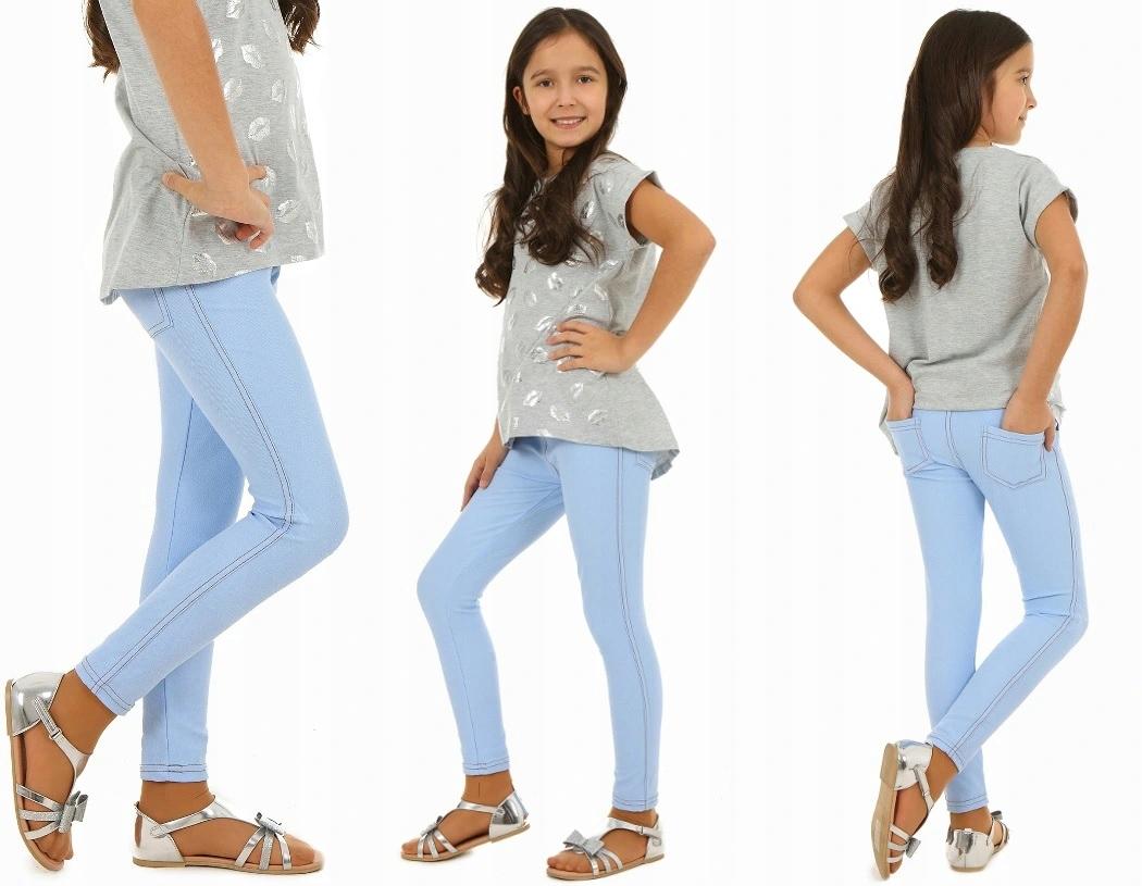 Красочные леггинсы джинсовые быты 152 синий
