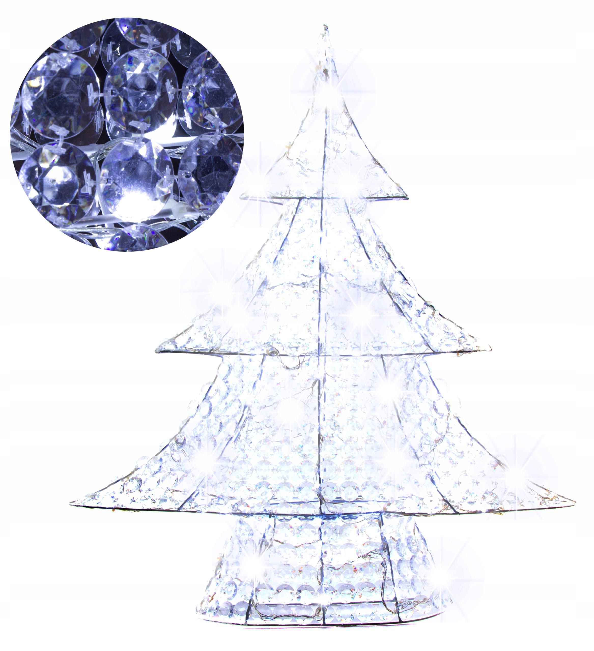 Ozdoba Świąteczna Choinka 90CM 90LED 24V Biały Zim