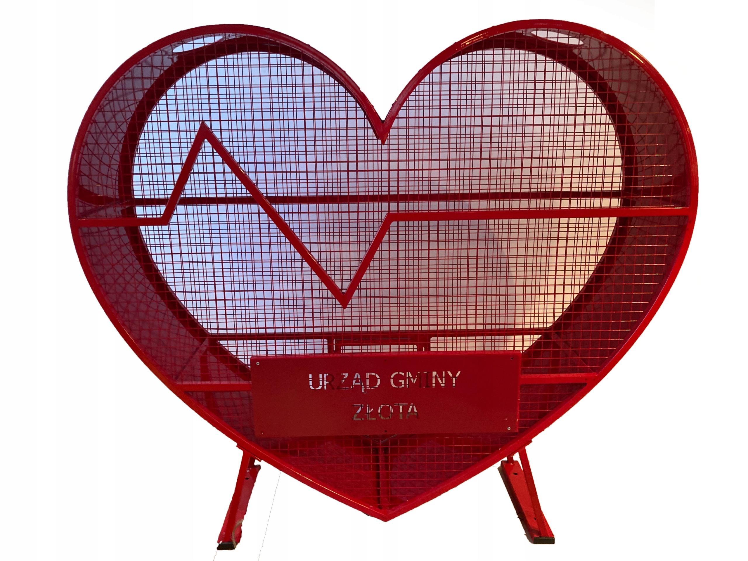 Сердце на крышке контейнера корзины
